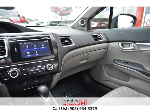 2015 Honda Civic EX SUNROOF ALLOY WHEELS BLUETOOTH BACK UP (Stk: B0822) in St. Catharines - Image 9 of 23