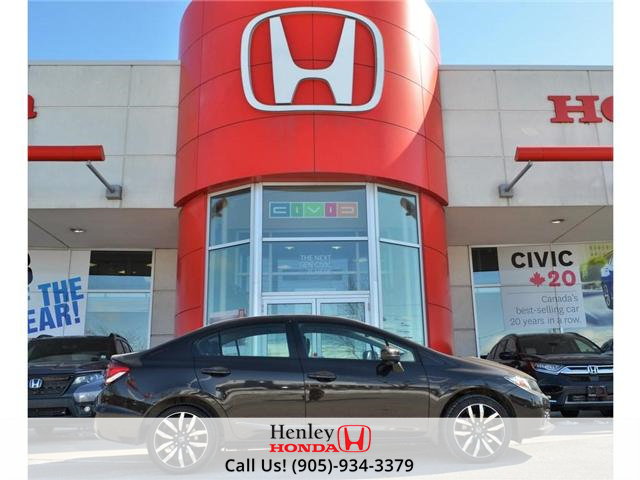 2014 Honda Civic Touring FULLY LOADED NAV LEATHER SUNROOF BACK UP (Stk: R9324) in St. Catharines - Image 1 of 27
