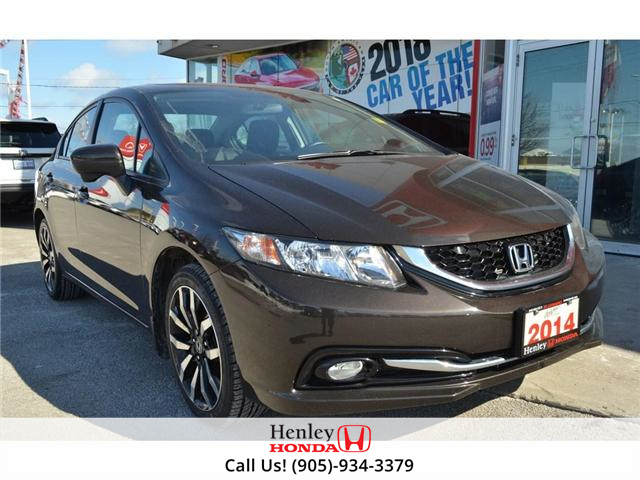 2014 Honda Civic Touring FULLY LOADED NAV LEATHER SUNROOF BACK UP (Stk: R9324) in St. Catharines - Image 2 of 27