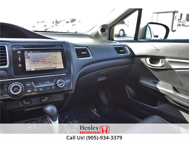 2014 Honda Civic Touring FULLY LOADED NAV LEATHER SUNROOF BACK UP (Stk: R9324) in St. Catharines - Image 9 of 27
