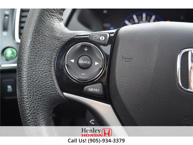 2015 Honda Civic EX-L Navi HEATED SEATS BLUETOOTH BACK UP CAM (Stk: R9334) in St. Catharines - Image 12 of 24