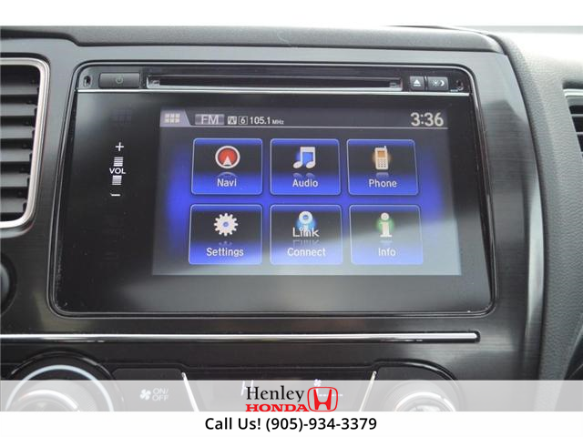 2015 Honda Civic EX-L Navi HEATED SEATS BLUETOOTH BACK UP CAM (Stk: R9334) in St. Catharines - Image 18 of 24
