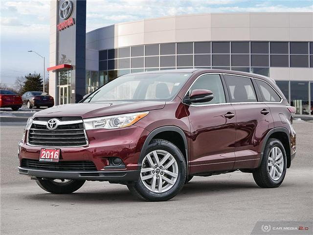 2016 Toyota Highlander LE (Stk: A219432) in London - Image 1 of 27