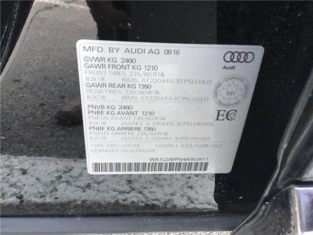 2017 Audi Q5 2.0T Komfort (Stk: T7280) in Hamilton - Image 17 of 25