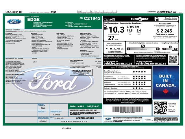 2016 Ford Edge Titanium (Stk: 148470) in Kitchener - Image 2 of 5