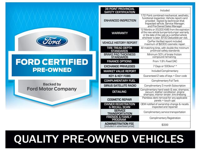 Ford Certified Pre Owned >> Cpo