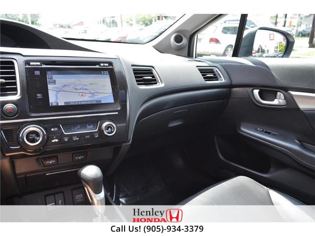 2015 Honda Civic Sedan 2015 Honda Civic Sedan Touring FULLY LOADED (Stk: B0878) in St. Catharines - Image 9 of 23