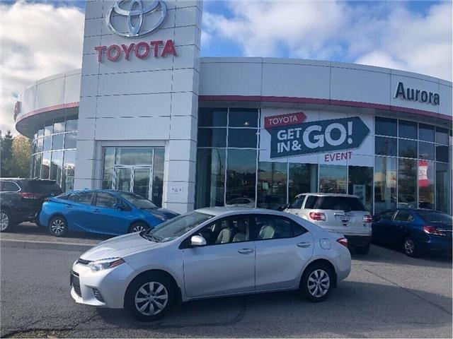 2016 Toyota Corolla LE (Stk: 312922) in Aurora - Image 1 of 16