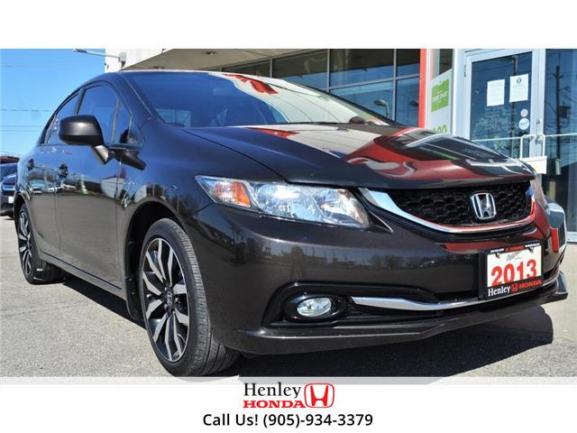 2013 Honda Civic NAV | LEATHER | HEATED SEATS | BACK UP (Stk: H18586A) in St. Catharines - Image 1 of 25