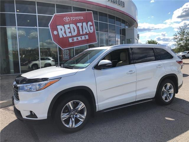 2016 Toyota Highlander Limited (Stk: 312621) in Aurora - Image 1 of 24