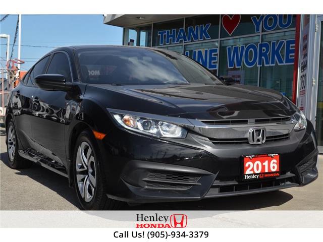 2016 Honda Civic Sedan BLUETOOTH | REAR CAM | HEATED SEATS (Stk: R9933) in St. Catharines - Image 1 of 18