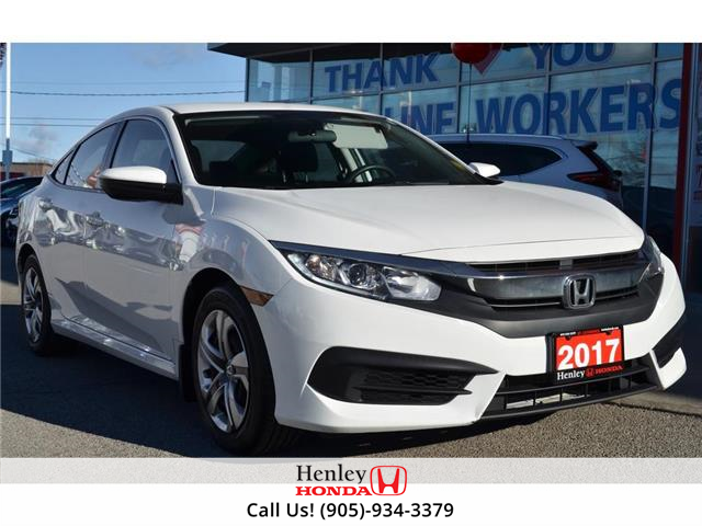 2017 Honda Civic Sedan BLUETOOTH | HEATED SEATS | REAR CAM (Stk: H19331A) in St. Catharines - Image 1 of 19