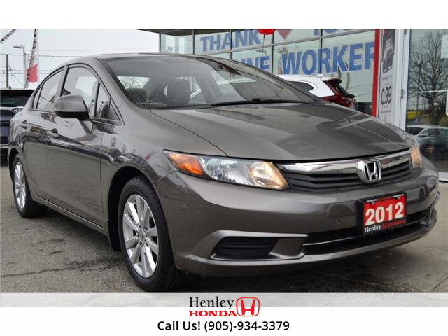 2012 Honda Civic SUNROOF | BLUETOOTH | ALLOY WHEELS (Stk: R9978A) in St. Catharines - Image 1 of 21