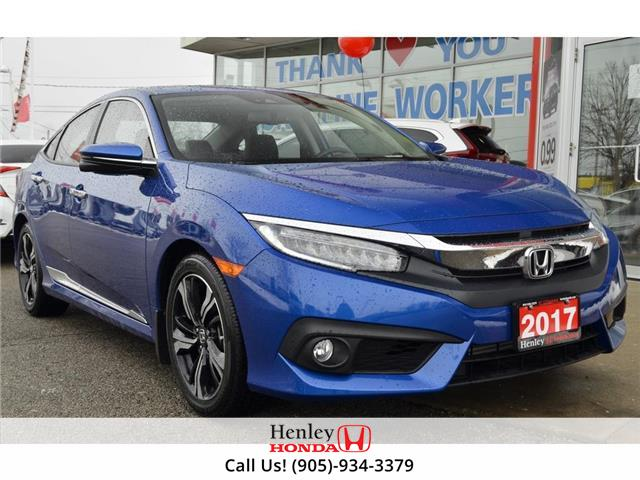 2017 Honda Civic Sedan NAV | LEATHER | REAR CAM | BLUETOOTH (Stk: R10082) in St. Catharines - Image 1 of 25