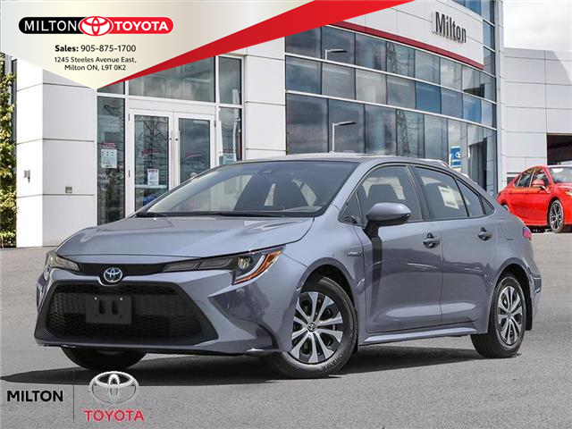 2021 Toyota Corolla Hybrid Base w/Li Battery (Stk: 025476) in Milton - Image 1 of 23