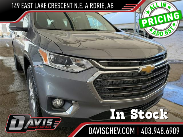 2021 Chevrolet Traverse LT Cloth (Stk: 189179) in AIRDRIE - Image 1 of 31
