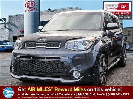 2014 Kia Soul Two-Tone Fathom Blue/White Special Edition (Stk: T19167A) in Toronto - Image 1 of 10