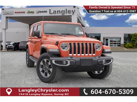 2019 Jeep Wrangler Unlimited Sahara (Stk: K602686) in Surrey - Image 1 of 25