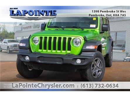 2019 Jeep Wrangler Unlimited Sport (Stk: 19312) in Pembroke - Image 1 of 20