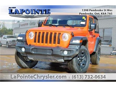 2019 Jeep Wrangler Sport (Stk: 19263) in Pembroke - Image 1 of 20
