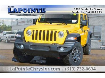 2019 Jeep Wrangler Unlimited Sport (Stk: 19233) in Pembroke - Image 1 of 20
