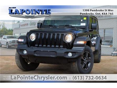 2019 Jeep Wrangler Unlimited Sport (Stk: 19370) in Pembroke - Image 1 of 20
