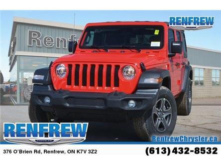 2019 Jeep Wrangler Unlimited Sport (Stk: K200) in Renfrew - Image 1 of 20