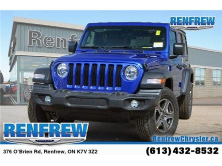 2019 Jeep Wrangler Unlimited Sport (Stk: K212) in Renfrew - Image 1 of 20