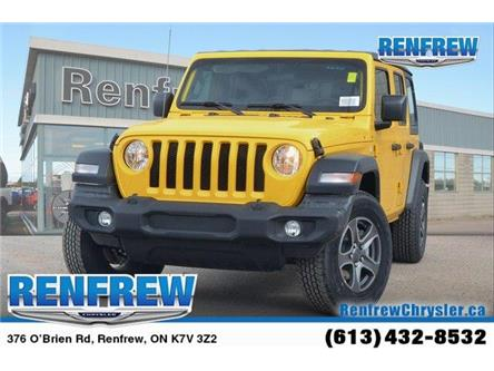 2019 Jeep Wrangler Unlimited Sport (Stk: K234) in Renfrew - Image 1 of 5