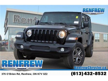 2019 Jeep Wrangler Unlimited Sport (Stk: K229) in Renfrew - Image 1 of 20