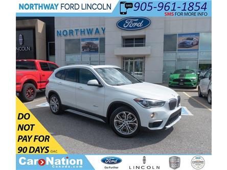 2018 BMW X1 xDrive28i | AWD | LEATHER | PANOROOF | PUSH START (Stk: DR349) in Brantford - Image 1 of 44