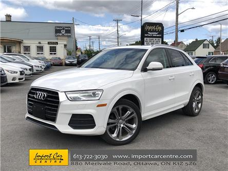 2017 Audi Q3 2.0T Progressiv (Stk: 001856) in Ottawa - Image 1 of 24