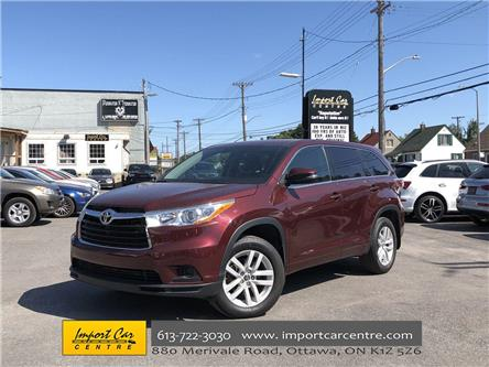 2016 Toyota Highlander LE (Stk: 260497) in Ottawa - Image 1 of 25