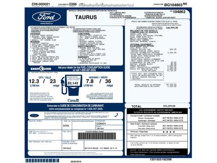 2011 Ford Taurus Limited (Stk: 9F8610AX) in Kitchener - Image 2 of 5