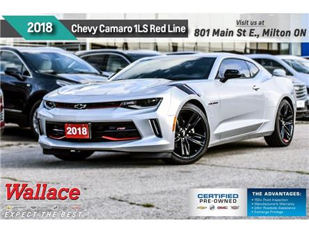 2018 Chevrolet Camaro 1LS/REDLINE/6-SPD MAN/20s/CARPLAY/DUAL MODE EXHST (Stk: 155897B) in Milton - Image 1 of 24