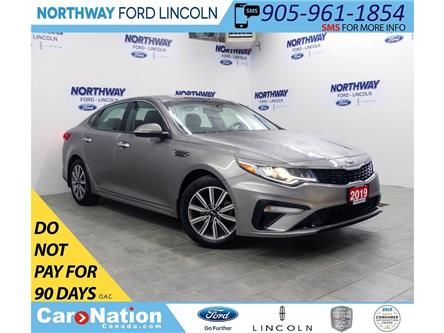 2019 Kia Optima LX+ | HTD SEATS+WHEEL | PUSH START | BACKUP CAM | (Stk: DR409) in Brantford - Image 1 of 40
