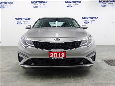 2019 Kia Optima LX+ | HTD SEATS+WHEEL | PUSH START | BACKUP CAM | (Stk: DR409) in Brantford - Image 2 of 40