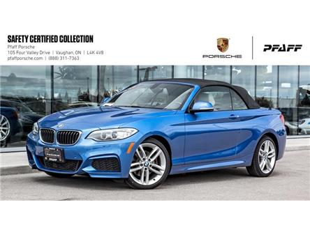 2016 BMW 228i xDrive Cabriolet (Stk: U8134) in Vaughan - Image 1 of 22