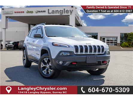 2018 Jeep Cherokee Trailhawk (Stk: K647560A) in Surrey - Image 1 of 25