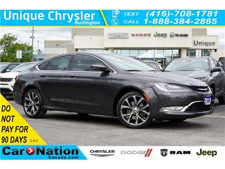 2015 Chrysler 200 C| SUN & SOUND GRP| NAV| HID| LED| PREMIUM GRP (Stk: K516A) in Burlington - Image 1 of 49