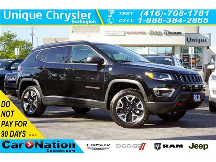2018 Jeep Compass TRAILHAWK| LEATHER| BEATS | TOW GRP| NAV & MORE (Stk: K877A) in Burlington - Image 1 of 50