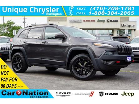 2017 Jeep Cherokee TRAILHAWK| TOW GRP| DUAL-PANE SUNROOF & MORE (Stk: K951A) in Burlington - Image 1 of 47