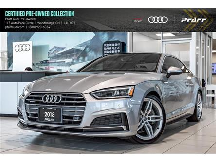 2018 Audi A5 2.0T Progressiv (Stk: C7121) in Woodbridge - Image 1 of 22