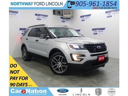 2016 Ford Explorer Sport   AWD   NAV   LEATHER   PANOROOF   3 ROW   (Stk: EC94260C) in Brantford - Image 1 of 48