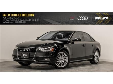 2016 Audi A4 2.0T Komfort plus (Stk: C7119) in Woodbridge - Image 1 of 22