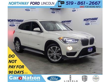 2018 BMW X1 xDrive28i | AWD | LEATHER | PANOROOF | PUSH START (Stk: DR554) in Brantford - Image 1 of 39