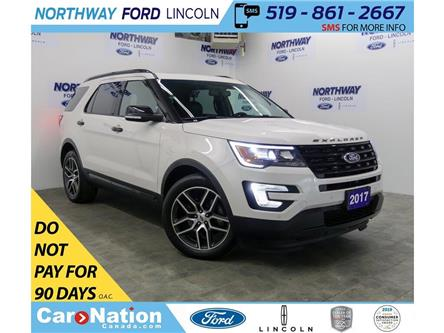 2017 Ford Explorer Sport | AWD | LEATHER | PANOROOF | 3 ROW | (Stk: F192621A) in Brantford - Image 1 of 47