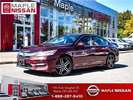 2017 Honda Accord Sedan V6 Touring--Leather,Navi,Roof,1 Owner Trade in! (Stk: LM417) in Maple - Image 1 of 26
