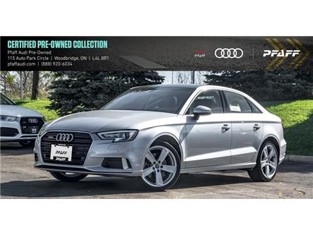2018 Audi A3 2.0T Komfort (Stk: C7153) in Woodbridge - Image 1 of 22