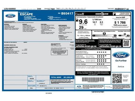 2017 Ford Escape SE (Stk: 150280) in Kitchener - Image 2 of 5
